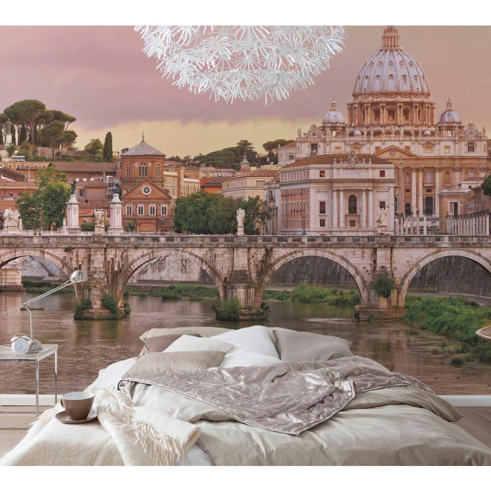 145 in. x 100 in. Rome Wall Mural