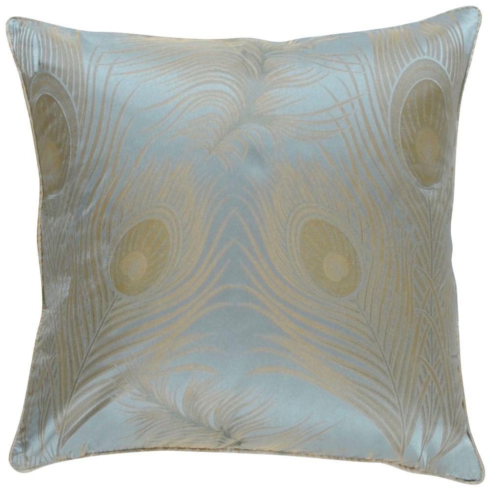Artistic Weavers Peacock4 18 in. x 18 in. Decorative Down Pillow-DISCONTINUED