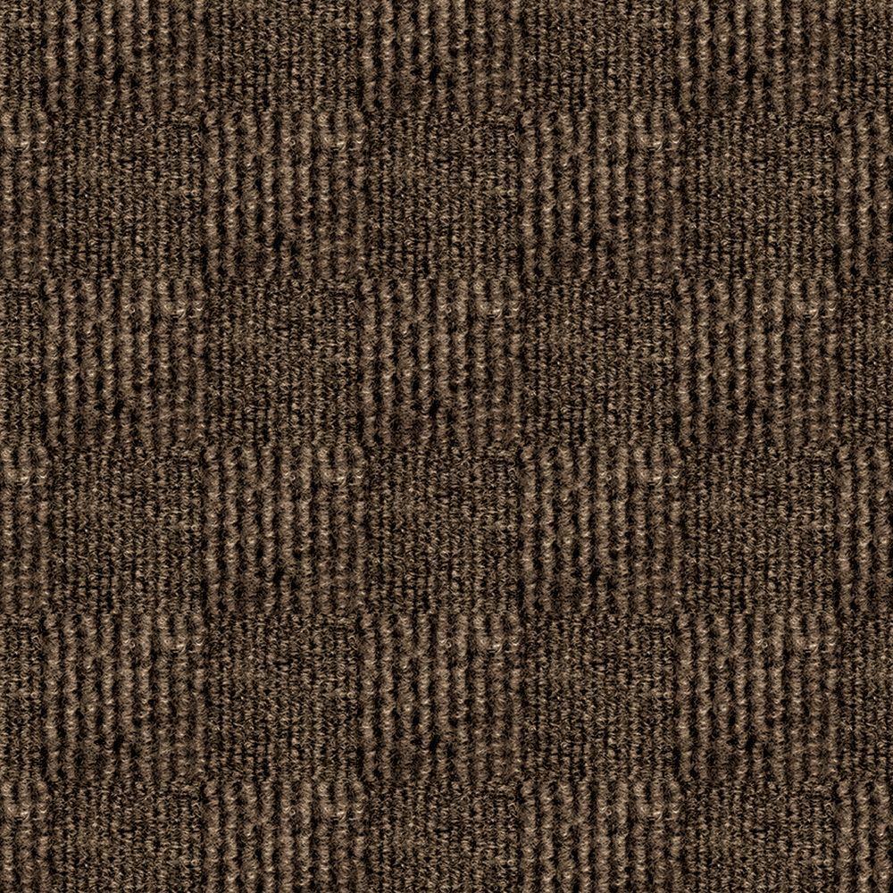 First Impressions City Block Espresso Texture 24 In X Carpet Tile 15 Tiles Case 7cdmn4915pk The Home Depot