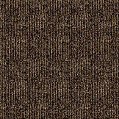 First Impressions City Block Espresso Texture 24 in. x 24 in. Carpet Tile (15 Tiles/Case)
