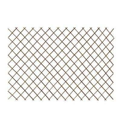 36 in. H x 72 in. L Peeled Willow Expandable Lattice Fence