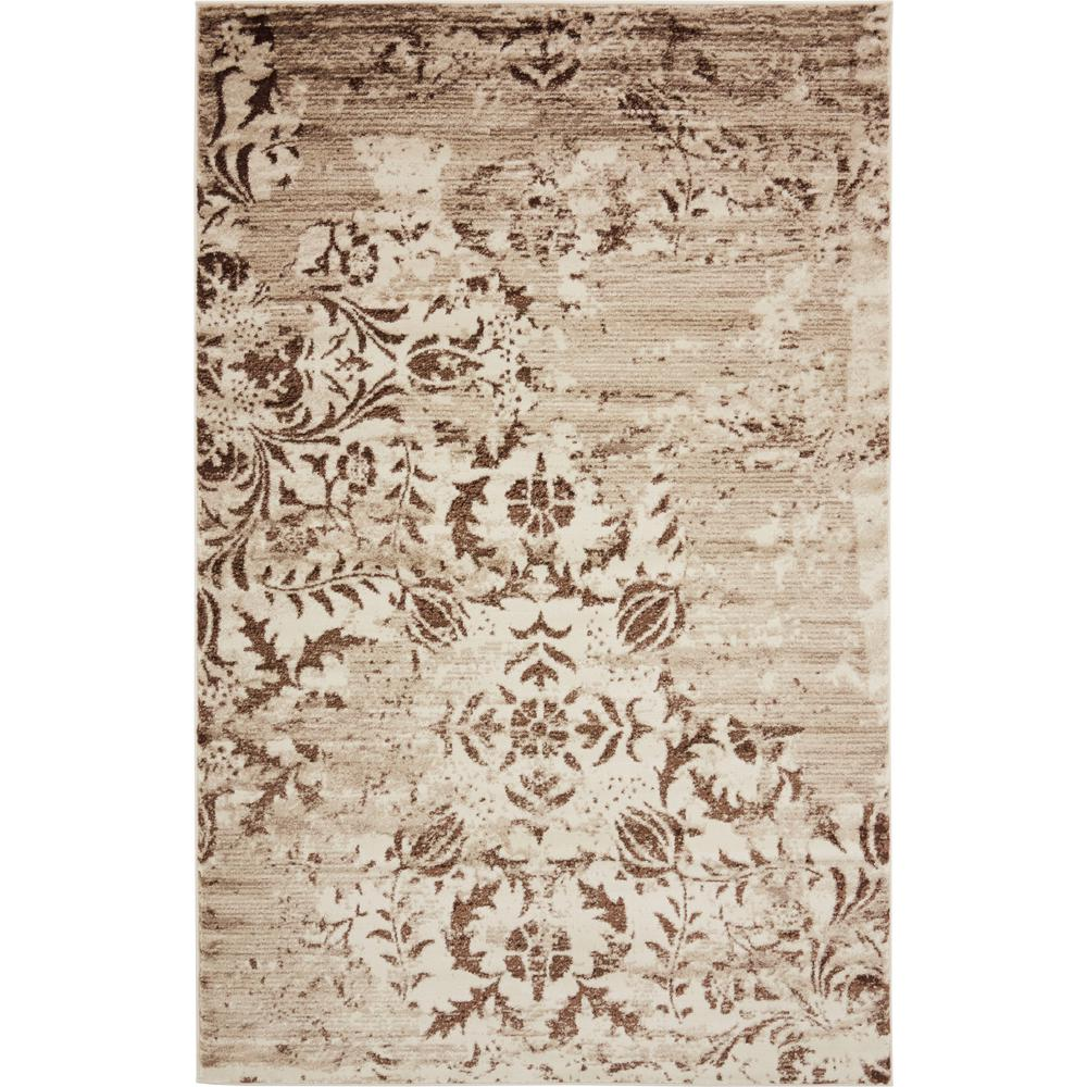 Unique loom himalaya chocolate brown 5 ft x 8 ft area rug 3134759 the home depot for Chocolate brown bathroom rugs