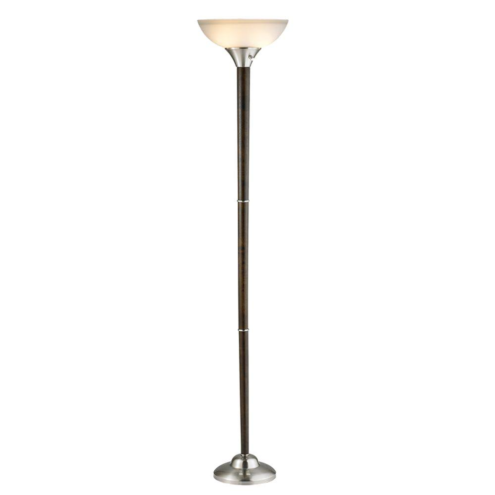 Alta 71 in. Walnut Floor Lamp