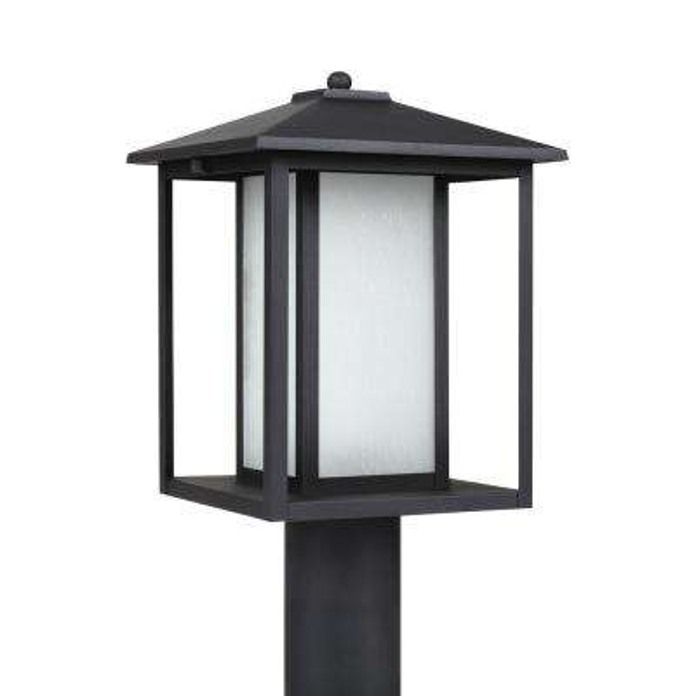 Hunnington 1-Light Outdoor Black Post Light with LED Bulb