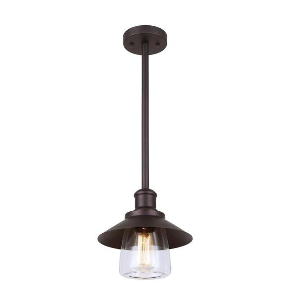 Indi 1-Light Bronze Pendant with Clear Glass