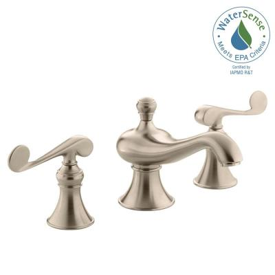 Revival 8 in. Widespread 2-Handle Low-Arc Water-Saving Bathroom Faucet in Vibrant Brushed-Bronze