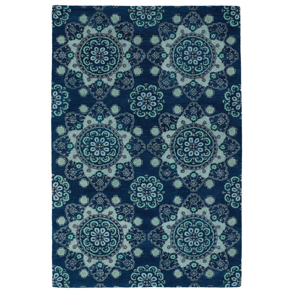 Bohemian Comfort Navy 5 ft. x 7 ft. 9 in. Area