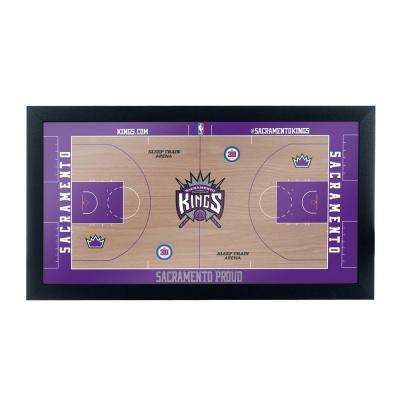 Sacramento Kings Official NBA Court 15 in. x 26 in. Black Framed Plaque