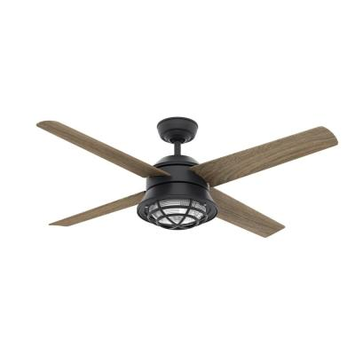 Seafarer 54 in. Integrated LED Indoor/Outdoor Natural Iron Ceiling Fan with Light and Remote Control
