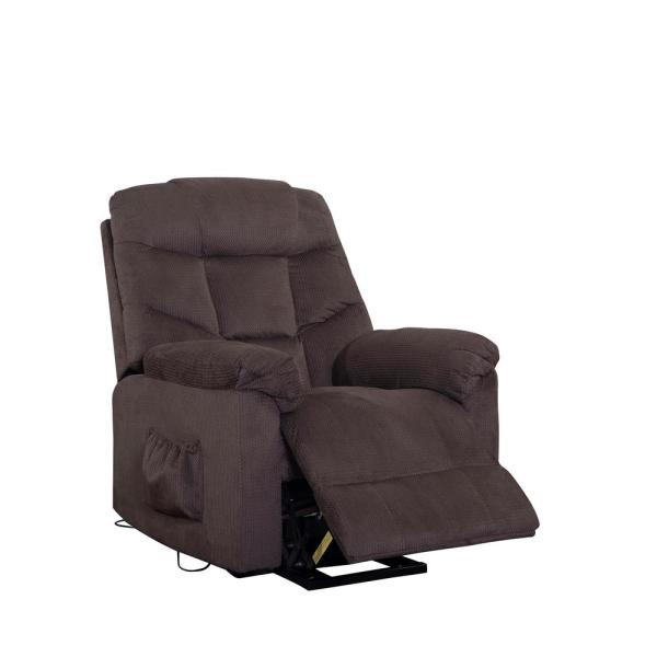 Merax Dark Brown Power Lift Recliner with Remote Control