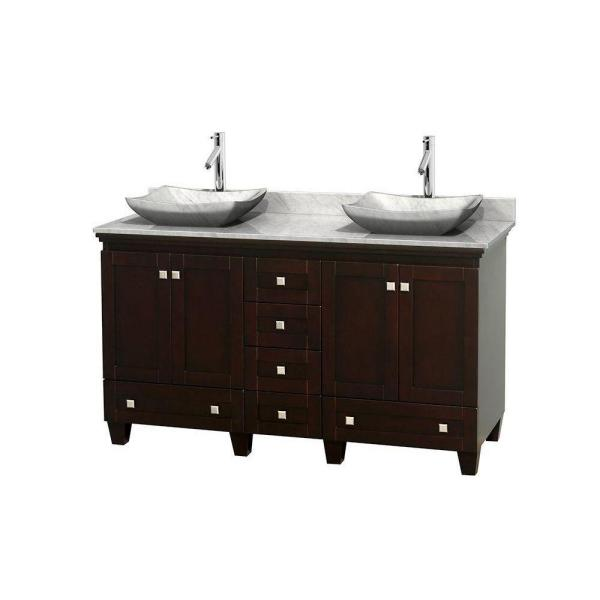 Wyndham collection acclaim 60 in w double vanity in - Best place to buy bathroom vanities online ...