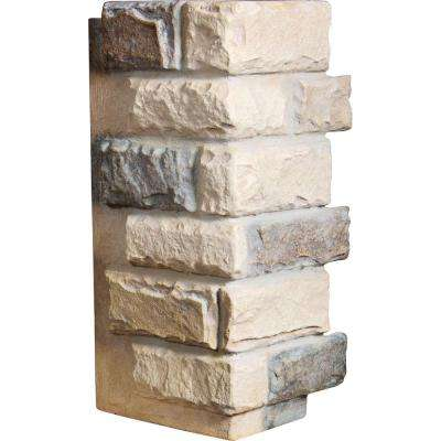 1-1/2 in. x 12-1/2 in. x 25 in. Sonora Desert Urethane Cut Coarse Random Rock Outer Corner Wall Panel