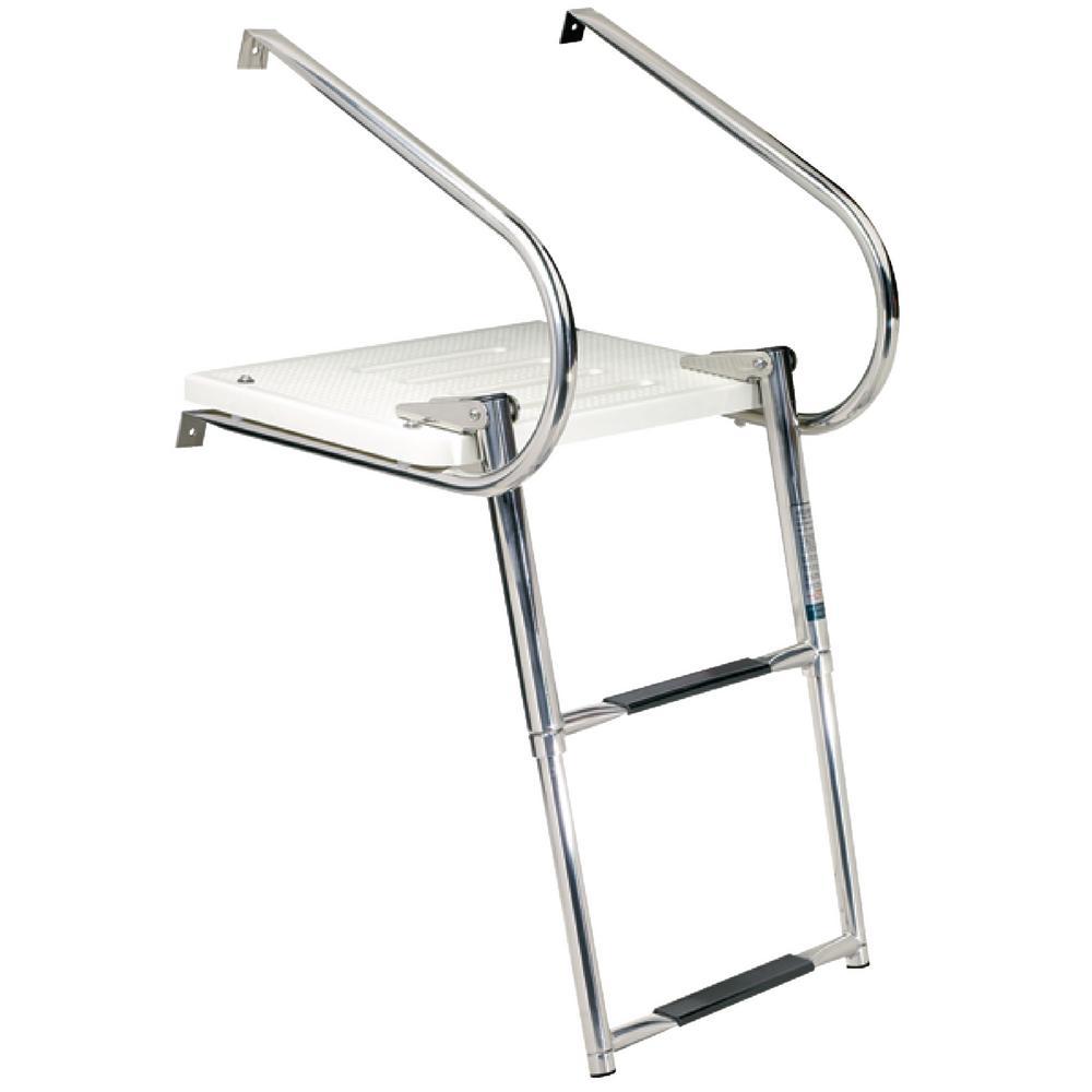 Universal Swim Platform with Top Mount Ladder