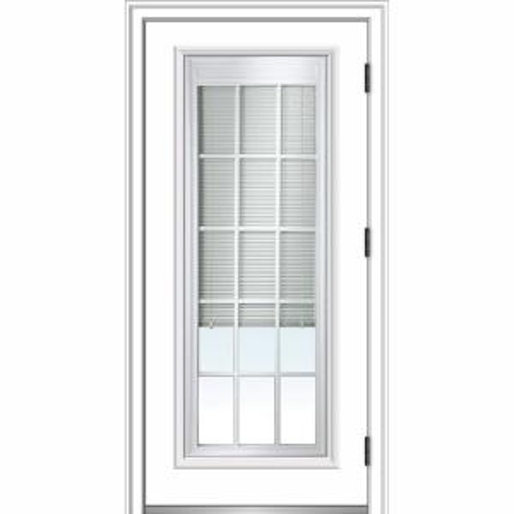 Mmi Door 32 In X 80 In Internal Blinds Grilles Left Hand
