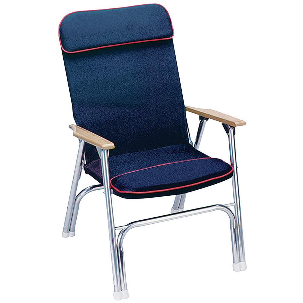 Etonnant SeaChoice Blue And Red Trim Canvas Folding Chair