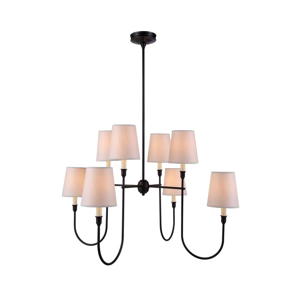 Elegant Lighting Lancaster 8 Light Bronze Pendant