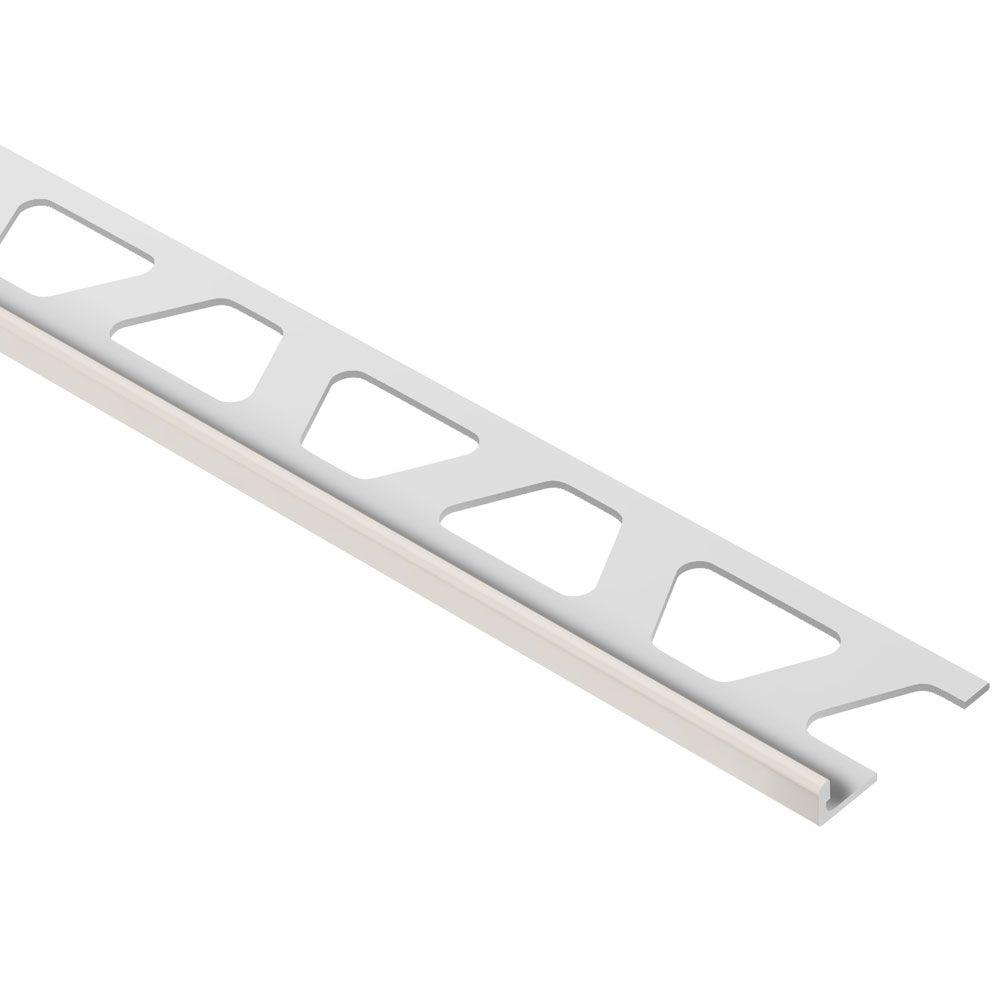 Schluter Jolly Sand Pebble Color-Coated Aluminum 3/16 in. x 8 ft. 2-1/2 in. Metal Tile Edging Trim