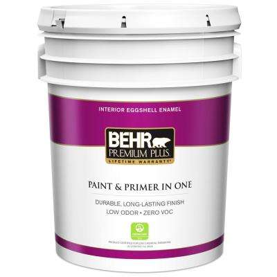 5 gal. Ultra Pure White Eggshell Enamel Low Odor Interior Paint and Primer in One