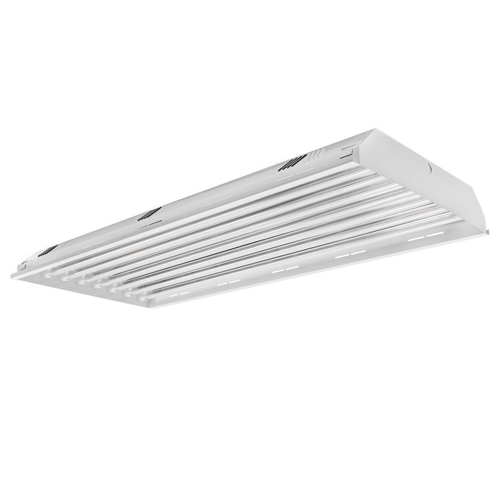 4 ft. 8-Light LED White High Bay 5000K (LED Tubes Included)