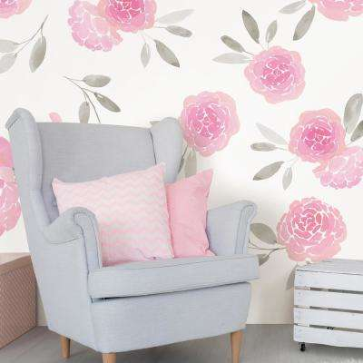 Pink May Flowers Wall Decal