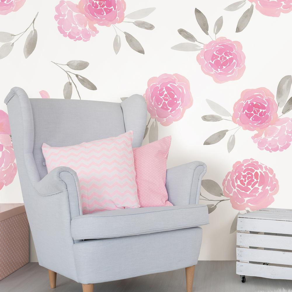 Wallpops pink may flowers wall decal wpk2458 the home depot wallpops pink may flowers wall decal mightylinksfo