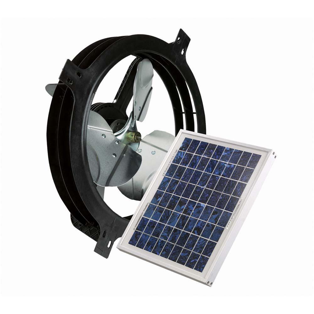 840 CFM 10-Watt Solar Powered Gable Fan