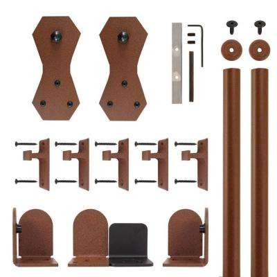 Castle 2 New Age Rust Rolling Door Hardware Kit for 3/4 in. to 1-1/2 in. Door