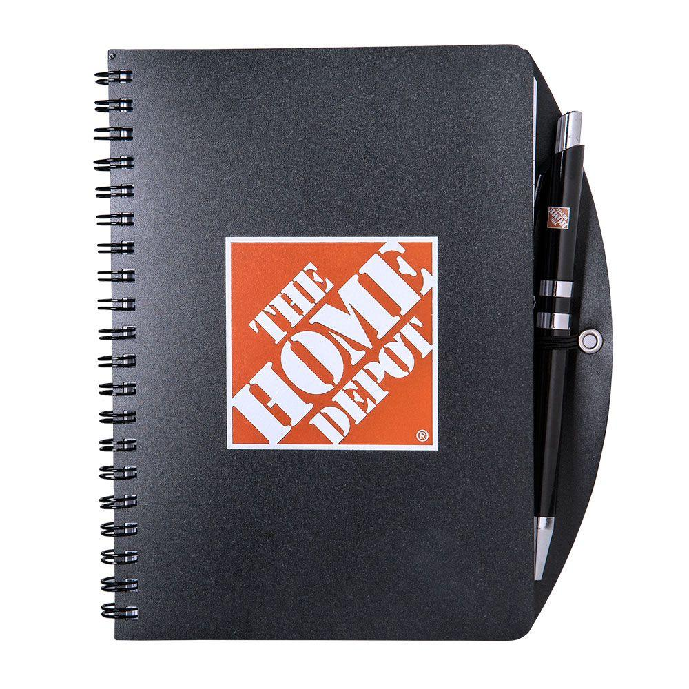 The Home Depot Black Home Depot Notebook and Pen Combo