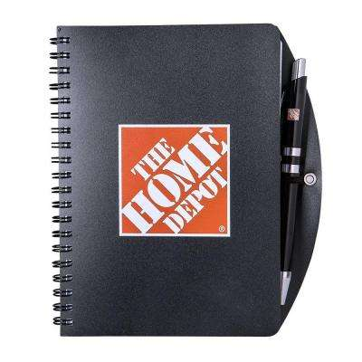 Nice Black Home Depot Notebook And Pen Combo