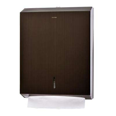 Bronze Brushed Stainless Steel C-Fold/Multi-Fold Paper Towel Dispenser
