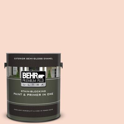 Behr Premium Plus Ultra 1 Gal Ppu8 17 Fortress Stone Semi Gloss Enamel Exterior Paint And Primer In One 585001 The Home Depot
