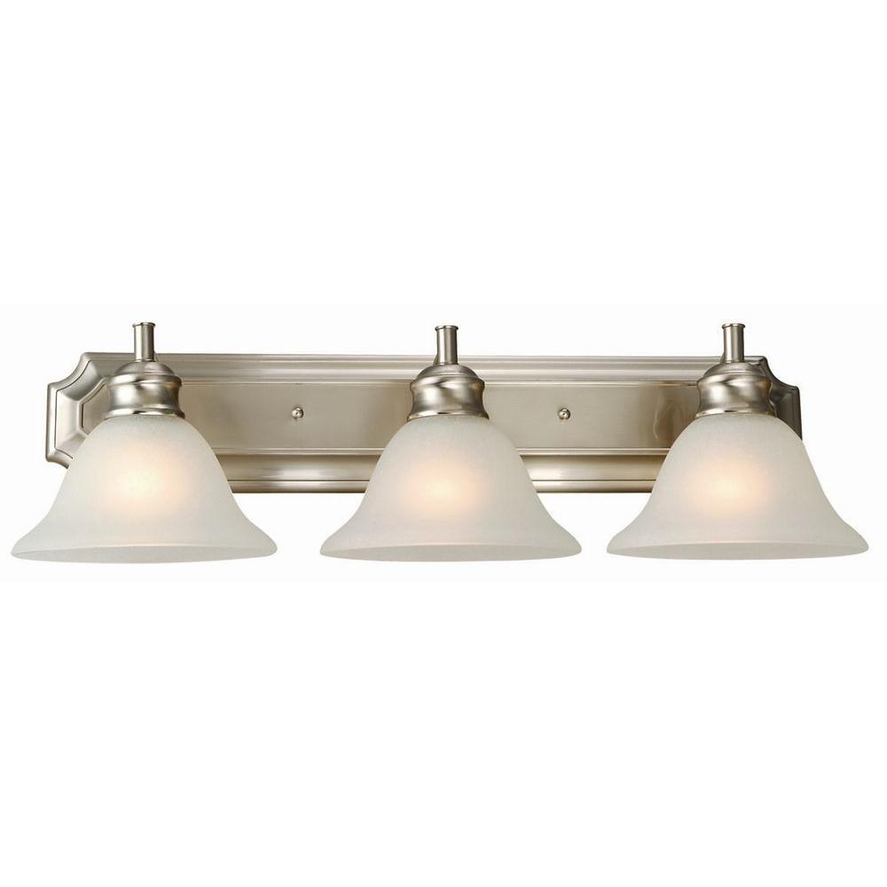 Design House Bristol 3-Light Satin Nickel Vanity Light