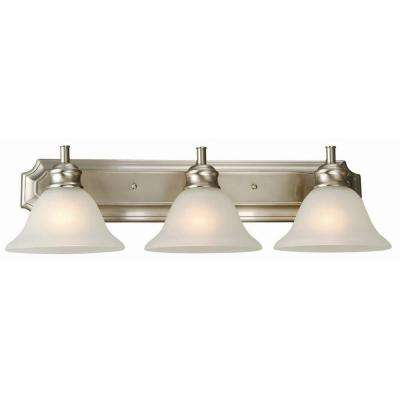 Bristol 3-Light Satin Nickel Vanity Light