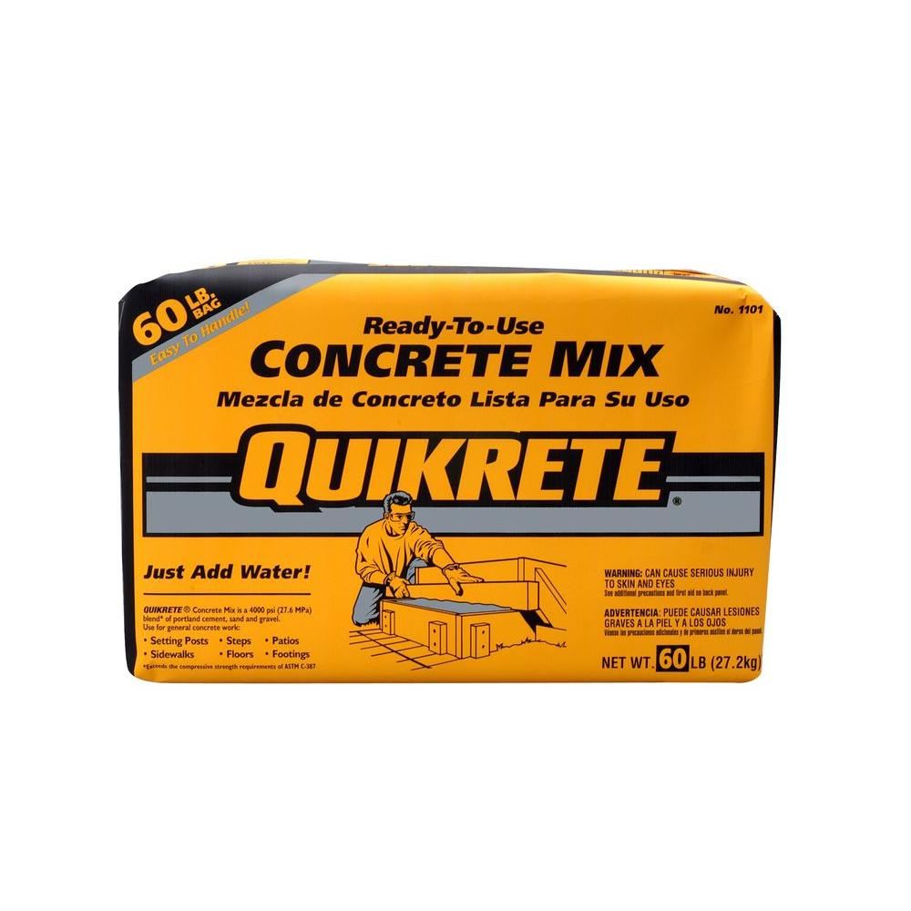 Quikrete 60 lb  Concrete Mix