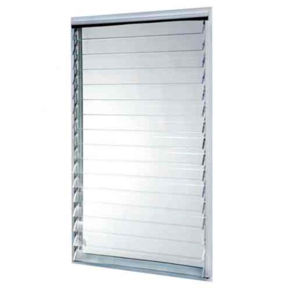 TAFCO WINDOWS 35 in. x 58.375 in. Jalousie Utility Aluminum Window - White
