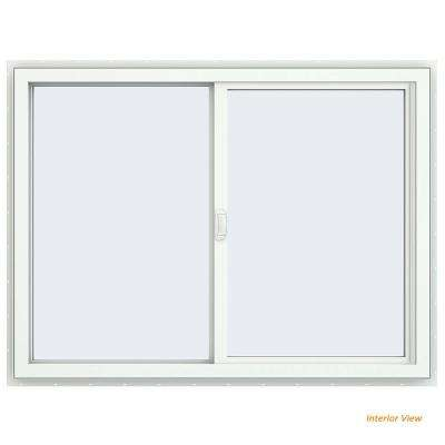 47.5 in. x 35.5 in. V-4500 Series Desert Sand Painted Vinyl Left-Handed Sliding Window with Fiberglass Mesh Screen