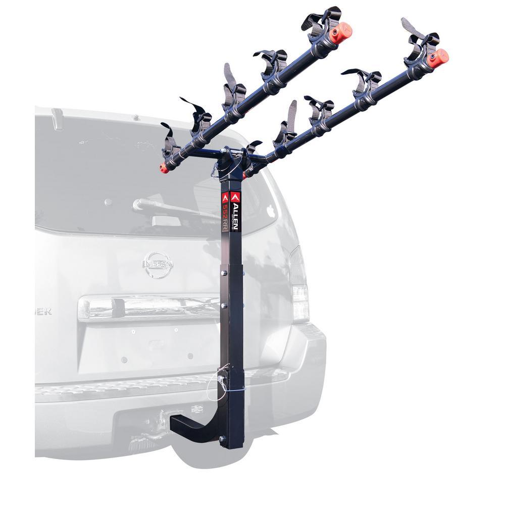 Allen Sports Deluxe 2 Bike Storage Mount Carrier Rack Hitch for Rear Car Trunk