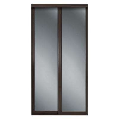 Serenity Mirror Espresso Wood Framed Interior Sliding Door