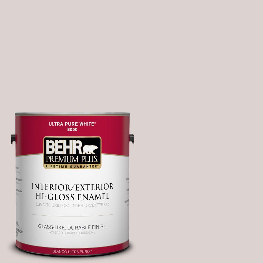 1-gal. #750A-2 Feather Gray Hi-Gloss Enamel Interior/Exterior Paint