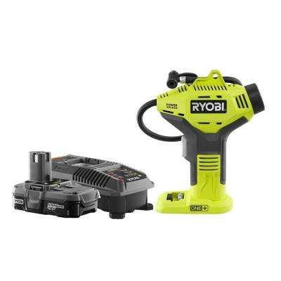 18-Volt ONE+ Lithium-Ion Cordless Power Inflator Kit with 1.3 Ah Battery and 18-Volt Charger