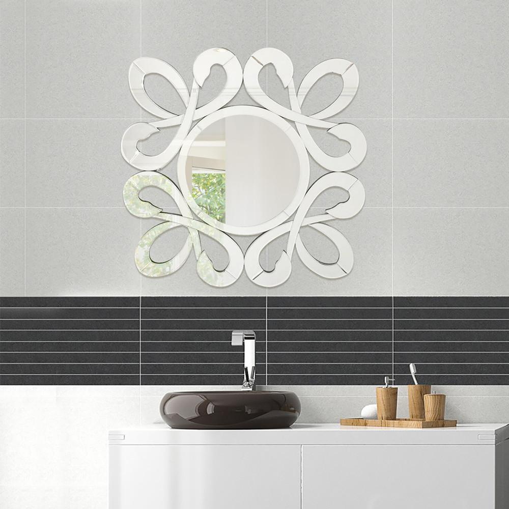 Fab Glass And Mirror 315 In X 315 In Fiori Stylish Frame Wall