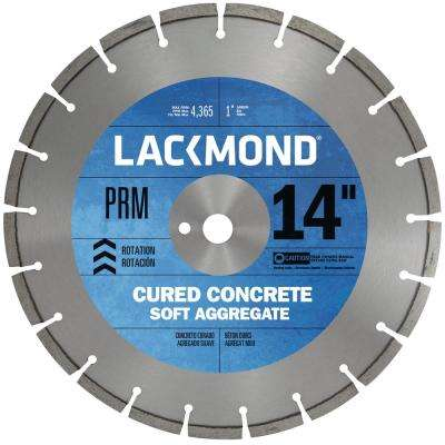 Premium CW20 Series Wet Cut Diamond Blade for Cured Concrete 14 in. x 0.312 x 1 in.