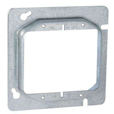 4-11/16 in. Square Two Device Mud Ring, 3/4 in. Raised (25-Pack)