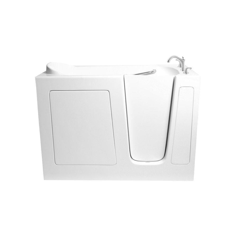 Ariel 4 ft. Walk-In Right Hand Bathtub in White-EZWT-3048-SOAKER-R ...