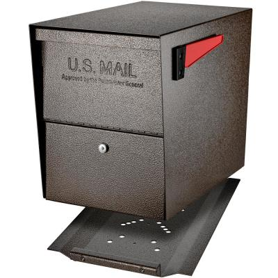 Package Master Locking Post-Mount Mailbox with High Security Reinforced Patented Locking System, Bronze