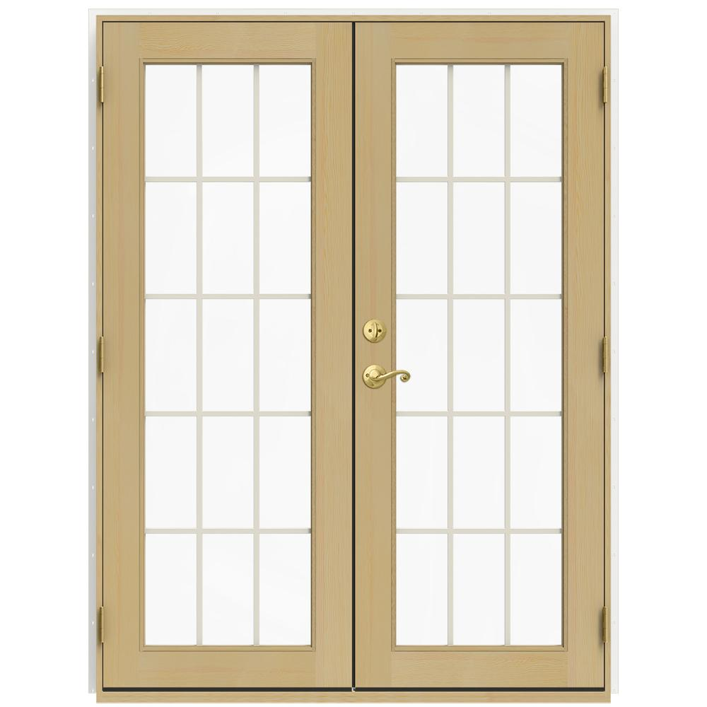 Home Depot Exterior French Doors: JELD-WEN 59.5 In. X 79.5 In. W-2500 Brilliant White Right