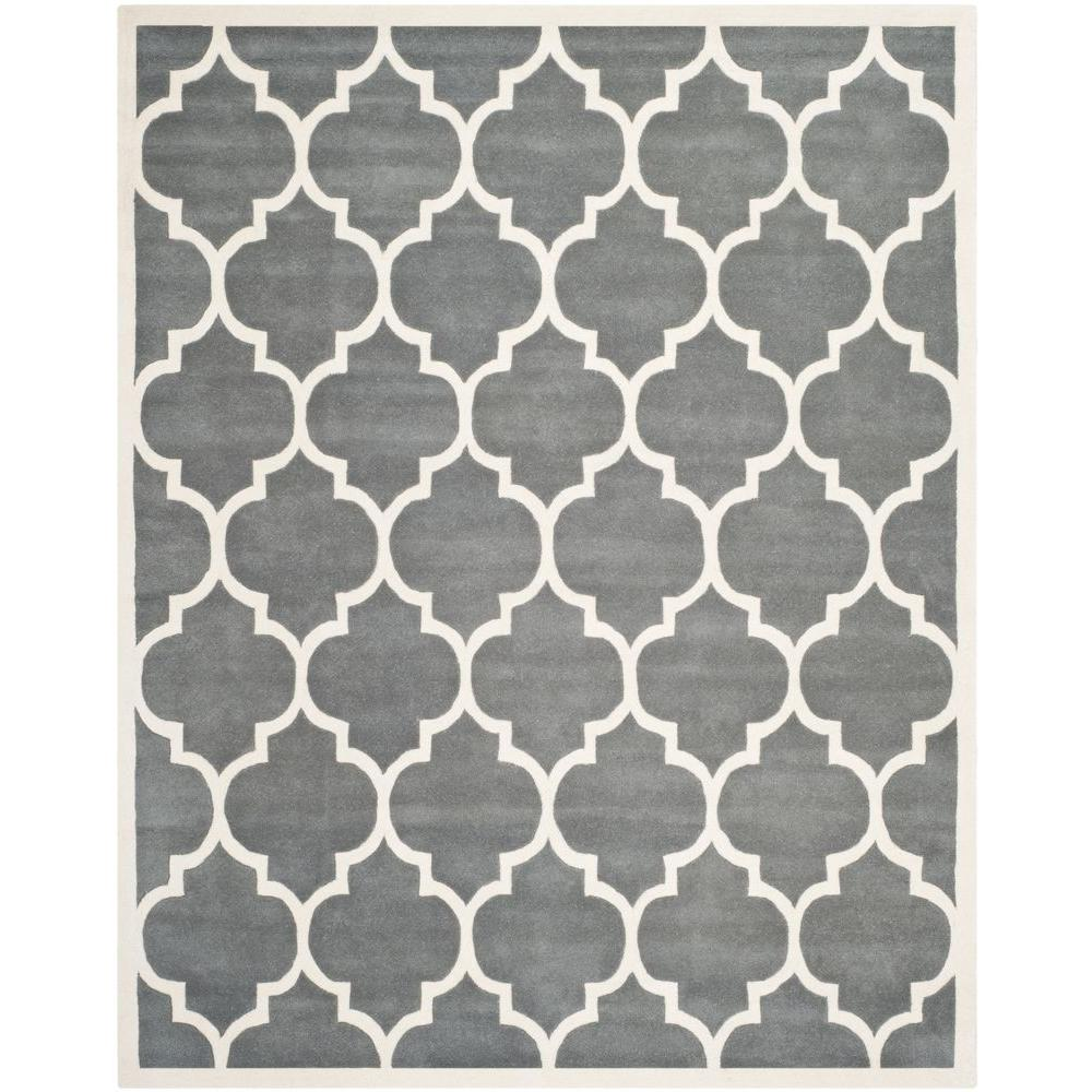 Chatham Dark Grey/Ivory 10 ft. x 14 ft. Area Rug