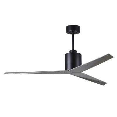 Eliza 56 in. Indoor/Outdoor Matte Black Ceiling Fan with Brushed Nickel Blades and Hand Held Remote/Wall Control