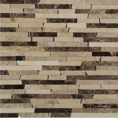 Cracked Joint Classic Brick Layout 12 in. x 12 in. x 8 mm Marble Mosaic Floor and Wall Tile