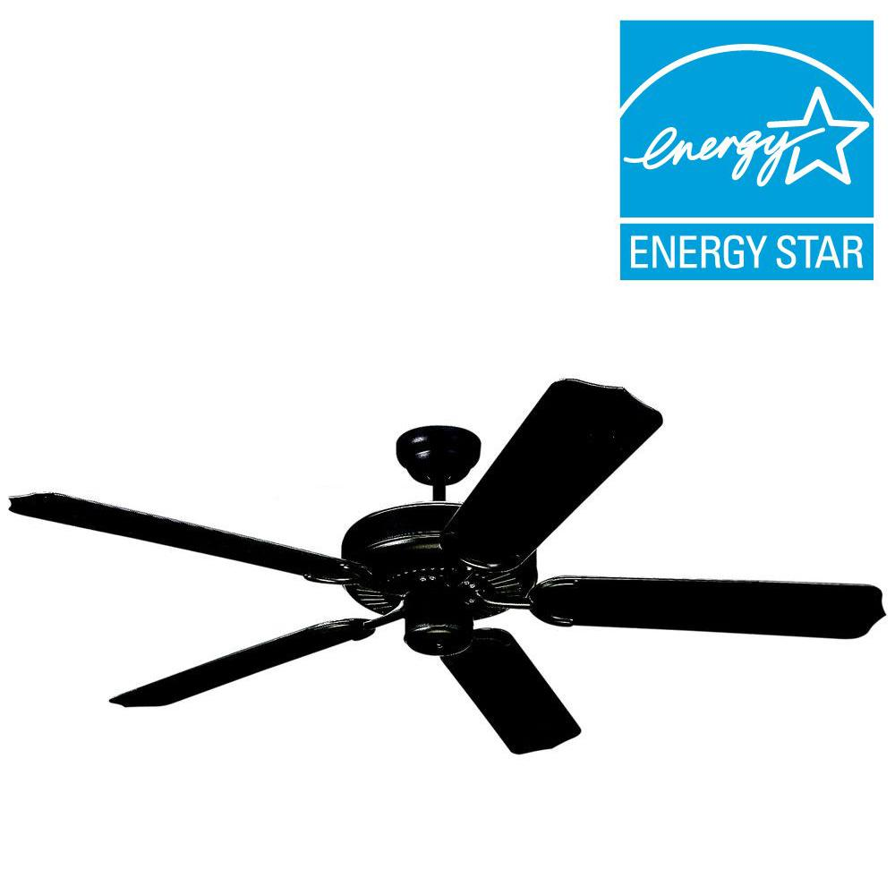 32 ceiling fan exterior patio indooroutdoor matte black ceiling fan5wf42bk the home depot monte carlo weatherford ii 42 in